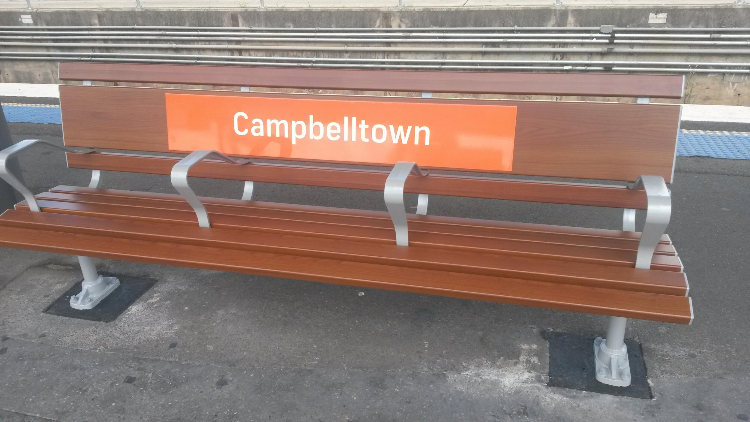 Campbelltown Train Station signage - DecoSign