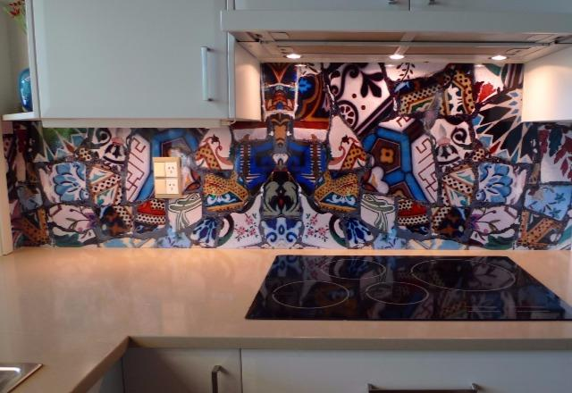Moroccan Tile Splashback using DecoSplash