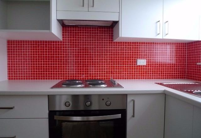 Red Mosaic Tile Splashback using DecoSplash