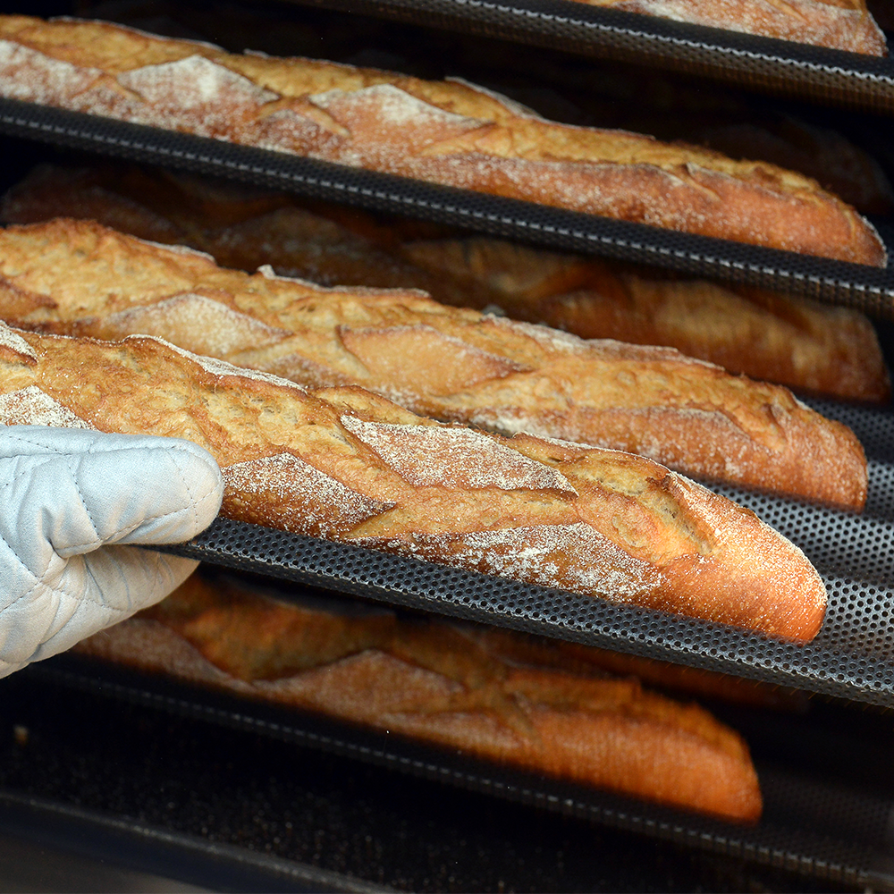 Teflon coated loaf trays